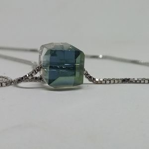 Square Sugar Crystal Pendant Necklace